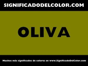 cual es el color oliva