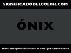 cual es el color onix