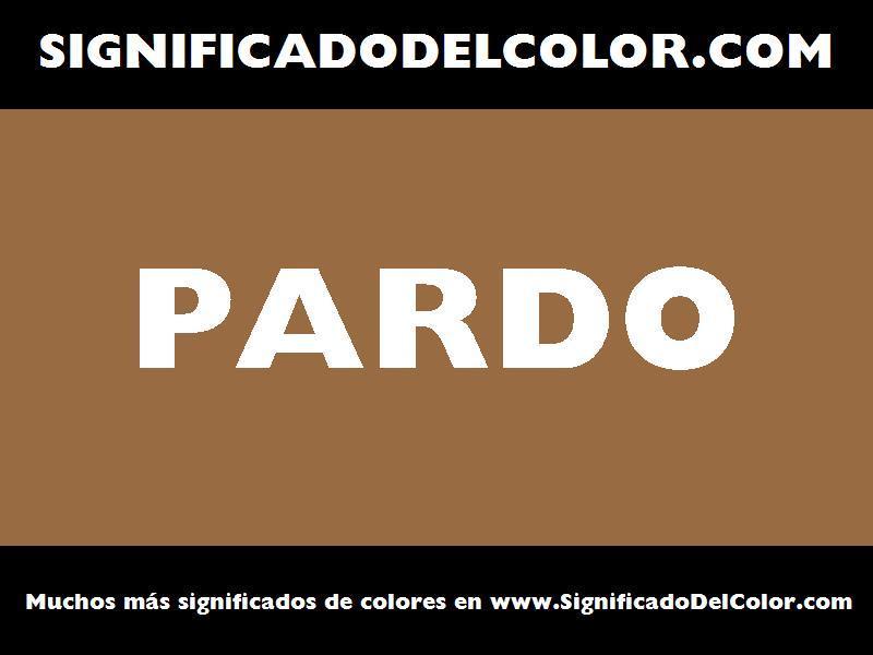 ¿Cual es el color Pardo?