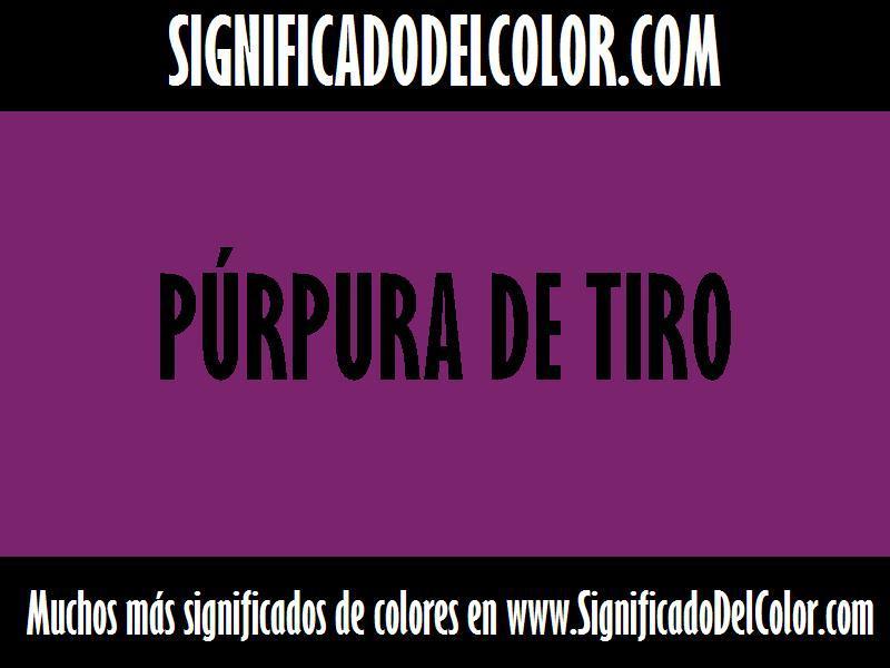 ¿Cual es el color Púrpura de Tiro?