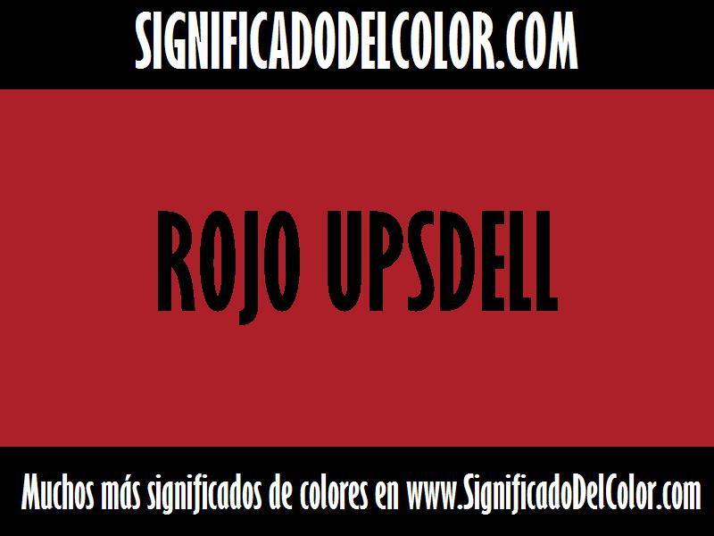 ¿Cual es el color Rojo Upsdell?