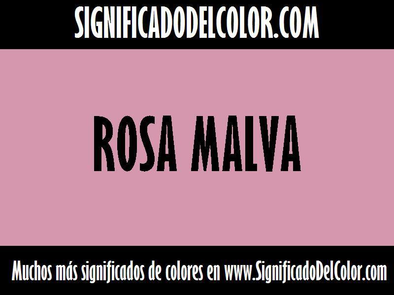 ¿Cual es el color Rosa malva?