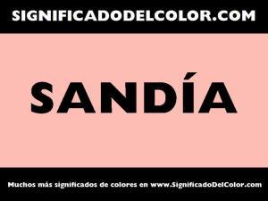 cual es el color sandia