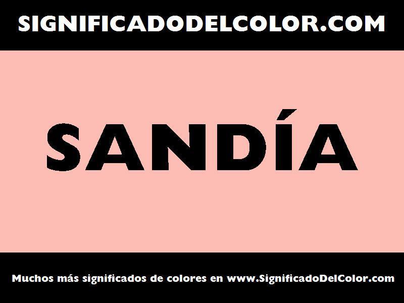 ¿Cual es el color Sandía?