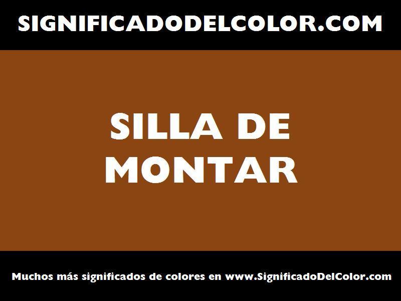 ¿Cual es el color Silla de montar?