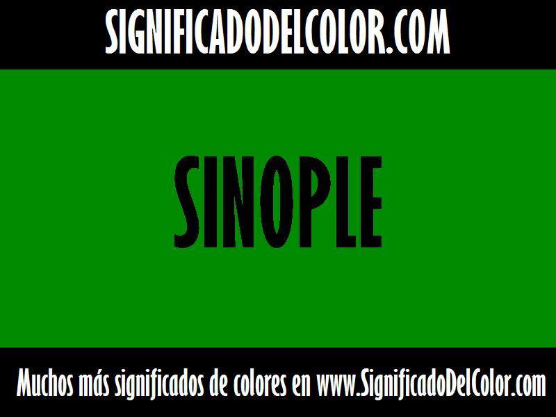 ¿Cual es el color Sinople?