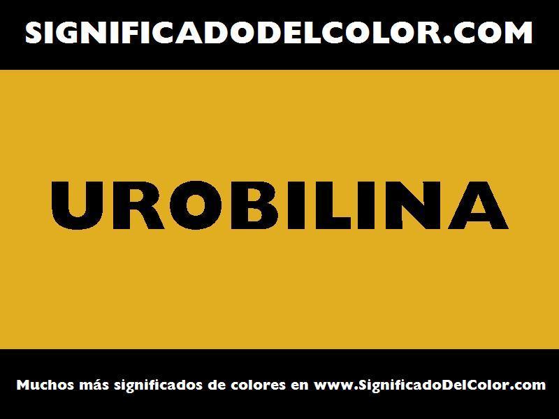 ¿Cual es el color Urobilina?