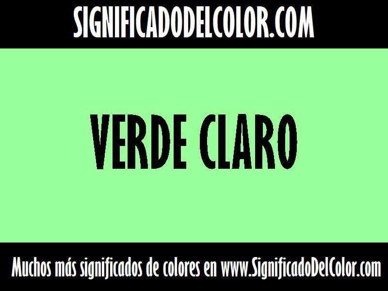 ¿Cual es el color Verde claro?