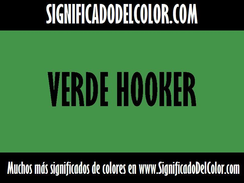 ¿Cual es el color Verde hooker?