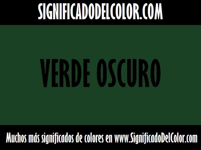 ¿Cual es el color Verde oscuro?