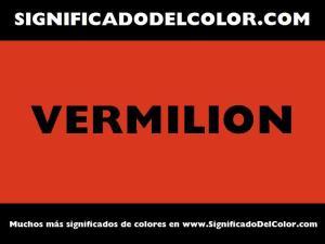 cual es el color vermilion