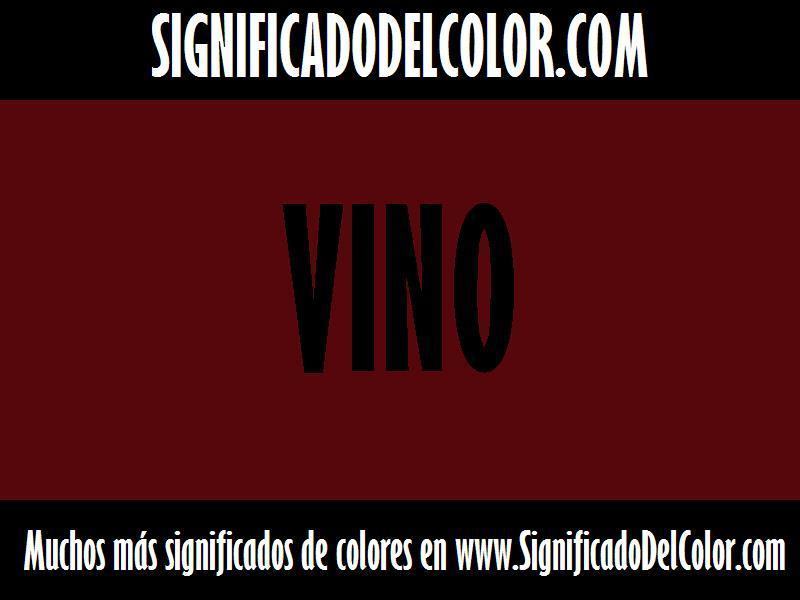 cual es el color vino