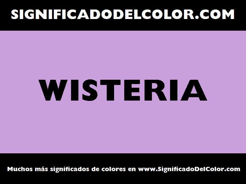 ¿Cual es el color Wisteria?