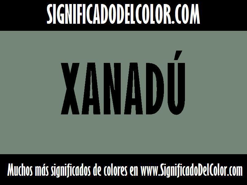 ¿Cual es el color Xanadú?