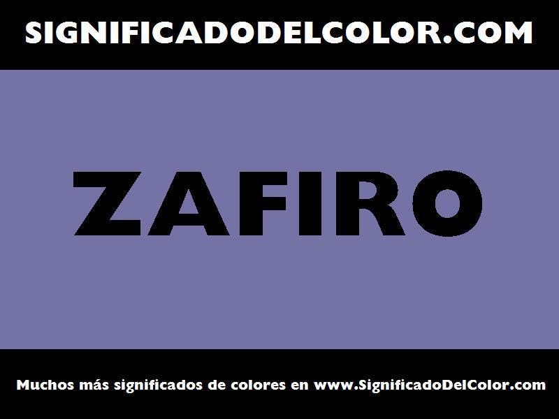 ¿Cual es el color Zafiro?