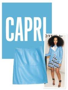 el color capri es un tono del azul muy utilizado en moda