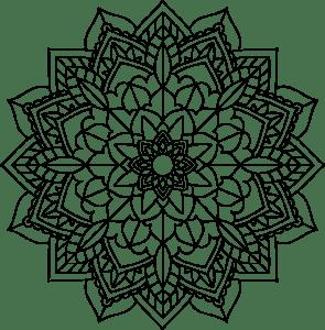 mandala de flor para pintar