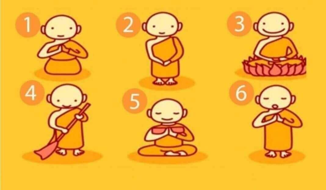 Escolha Um Monge Budista e Revele Uma Mensagem Poderosa!