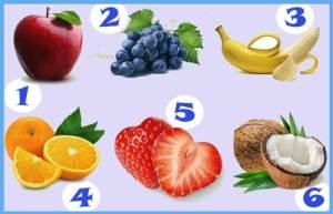 A Fruta Que Você Escolher Revelará Uma Característica Oculta Sobre Você.Escolha a fruta que você mais gosta!