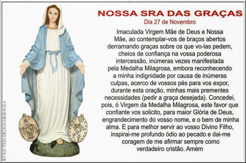 Oração A Nossa Senhora Da Graças Para Pedir Ajuda