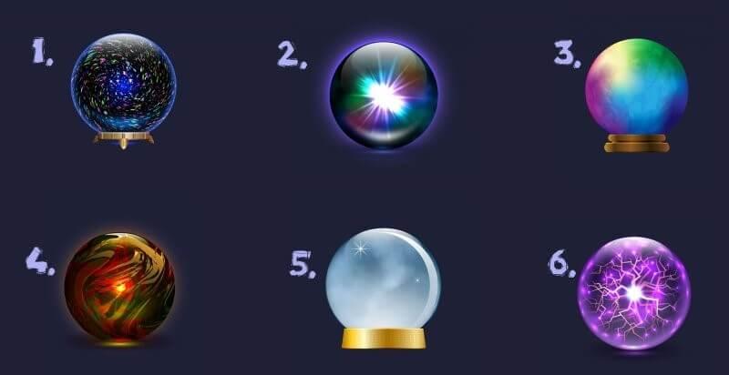 escolha uma bola de cristal