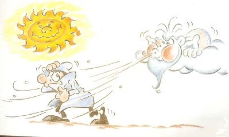 desenho do sol e do vento