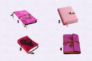 Qual caderno você escolhe? Escolha um e receba uma mensagem mágica pelos próximos 3 dias