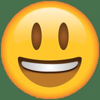 emoji feliz e sorridente
