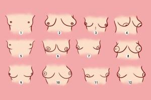 Teste: Qual o formato do seu peito? A natureza de uma mulher depende do formato do peito!