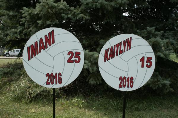 Personalized Sports Yard Signs Football Baseball Basketball Wrestling Swimming Cheer