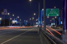 Art Installation Spans Highway Montreal - Sign Media