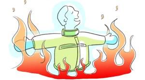 brandsäkert material