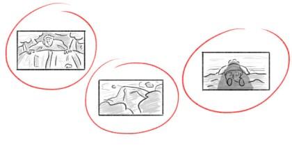 Storyboard-ruta