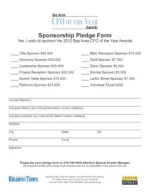 How to create a sponsorship form. Pledge Form Template Fill Out And Sign Printable Pdf Template Signnow