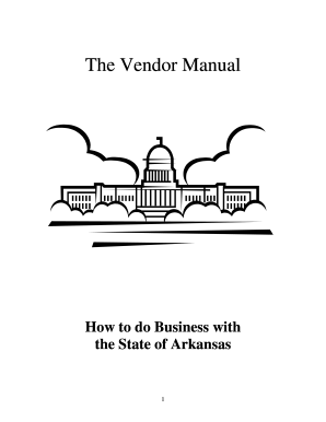 The Vendor Manual Arkansas Department Of Finance And Dfa