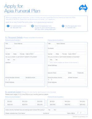 Dochub templates organize and simplify filling and sending forms edit pdfs pdf forms & templates sign documents create, edit, and fill pdf forms dochub fully supports all native pdf fields, including linked fields. Funeral Cover Application Form Template Fill Out And Sign Printable Pdf Template Signnow