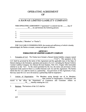 Start an llc business today with lawdistrict's operating agreement template. Operating Agreement Template Fill Out And Sign Printable Pdf Template Signnow