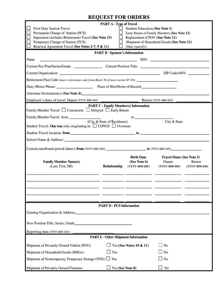 medium resolution of Travel Orders - Fill Out and Sign Printable PDF Template   signNow