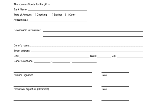 Gift Letter Template Fill Out And Sign Printable Pdf Template Signnow