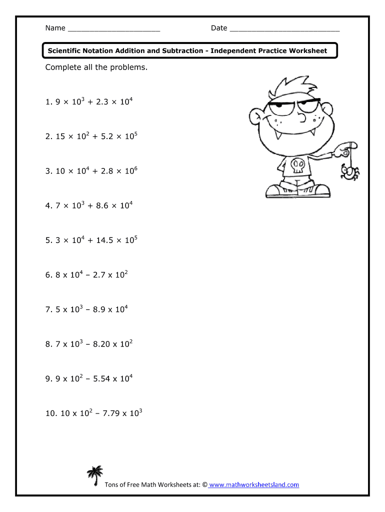 medium resolution of Adding And Subtracting Scientific Notation Worksheet With Answer Key Pdf -  Fill Out and Sign Printable PDF Template   signNow