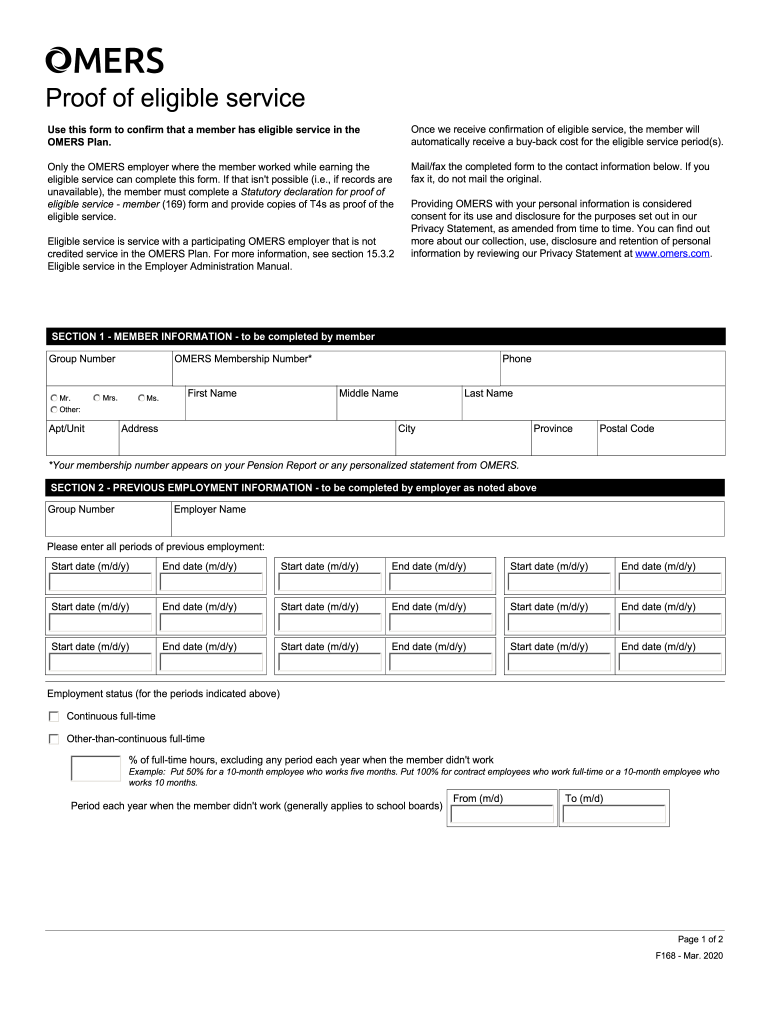 Form 169 Statutory Declaration For Proof Of Eligible Service - Fill Out and Sign Printable PDF Template | signNow