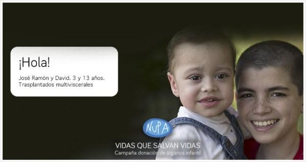 Nupa lanza una campaña de donación infantil de órganos