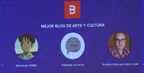 Hablando con letras en los premios Bitácoras 2016