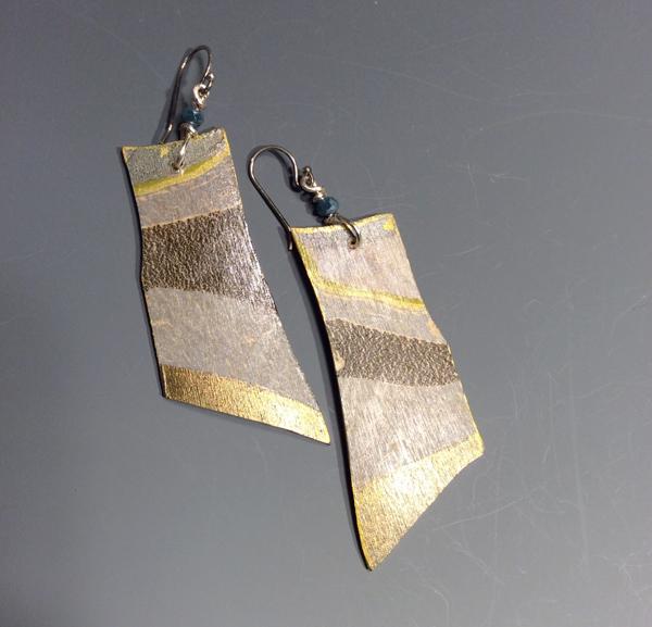 Sholeh Regna Reversible Marbled Birch Earrings, sideB