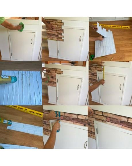 Carta parati adesiva grigio chiaro adesivi carta per mobili carta da parati. Pannello In Pvc Sottile 0 3mm Effetto Pietra