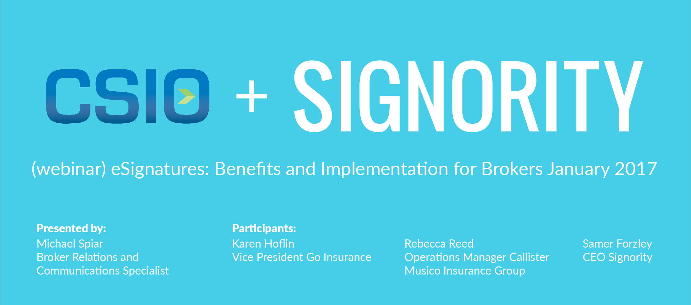 CSIO eSignature Webinar for Insurance Brokers