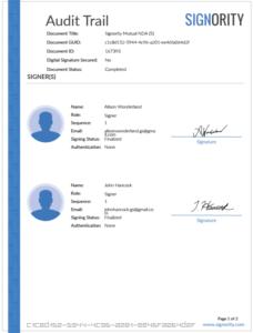 eSignature-audit-trail-signer-list