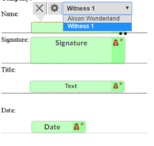 assigning tags to witness signers