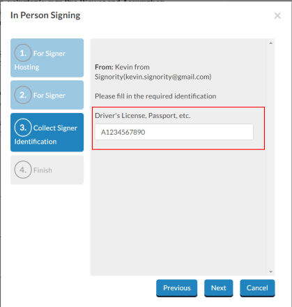 In-Person Signing ID Authentication