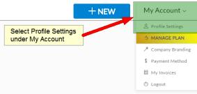Set your signature design in profile settings